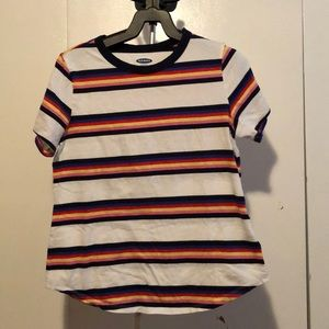 Striped retro style t-shirt